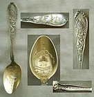 "Hennegan & Bates (D&H) Baltimore ""Turtle"" Sterling Souvenir Spoon"