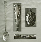 "Whiting ""Louis XV"" Long Handle Sterling Silver Olive Spoon"