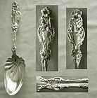 "Old, Choice, Whiting ""Lily"" Sterling Silver Salad Serving Spoon"