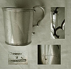 Tifft & Whiting c. 1845 Beaded Rim Coin Silver Mug