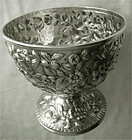 """S. Kirk & Son """"Repousse"""" 11 oz. Standard Silver Footed Bowl, c. 1880"""