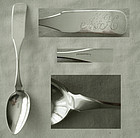 Benjamin Lord, Vermont and Georgia, Long, Coin Silver Teaspoon