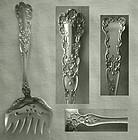 """Old Gorham """"Buttercup"""" Sterling Silver Sardine Fork"""