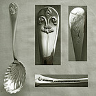 "Durgin ""Fleur-de-lis"" Sterling Silver Preserve Spoon"