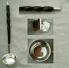 English Early 19th Century Sterling & Baleen Toddy Ladle