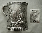 Important Gale & Hayden, NYC, Chased Coin Silver Mug