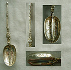 Wakely & Wheeler, London 1902, Sterling Anointing Spoon