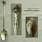"Paye & Baker ""Pond Lily"" Sterling Silver Iced Tea Spoon"