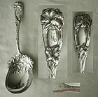 "Durgin ""New Art"" (Lily) Large Sterling Silver Preserve Spoon"