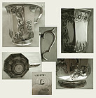William Gale & Son, New York, Chased Coin Silver Mug, 1850s
