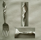 "Wallace ""Silver Swirl"" Sterling Silver Baby Fork"