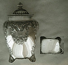 Gorham 1892 Footed Chased Sterling Silver Tea Caddy