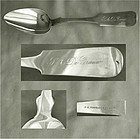 "Rare Mark, P.L. Taylor & Jones, ""Tipt End"" Coin Silver Tablespoon"