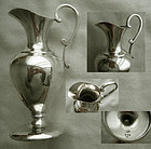 Small Krider & Biddle, Philadelphia, Sterling Ewer Form Footed Pitcher