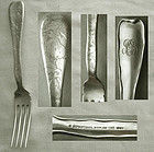 "Tiffany ""Lap-Over-Edge"" Acid Etched Sterling Place Fork"