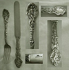 "Gorham ""Versailles"" 1888 Version Sterling Youth Knife & Fork"