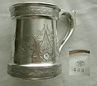 Krider & Biddle, Philadelphia, Bright Cut Coin Silver Mug