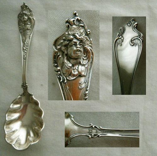"Watson, Newell & Co. ""Cherub"" Winged Figure Sterling Silver Teaspoon"