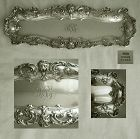 Gorham 1902 Heavy Solid Sterling Silver Sealing Set Desk Tray