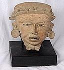 Pre-Columbian Life Size Veracruz Head
