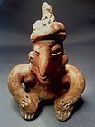 Pre-Columbian Seated Male with Hands on Knees-Jalisco
