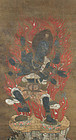 Antique Buddhist Painting, Gundari Myoo, Muromachi