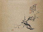 Chinese Literature Scroll Painting by Hu Tiemei