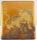 Gold lacquer suzuribako
