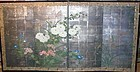 Japanese 4 silver leaves screen