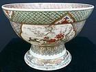 Large bowl Satsuma style on foot of Kyoto