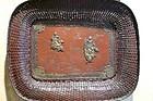 Japanese bronze tray