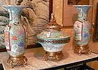 Japanese porcelain garniture