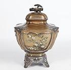 Exceptional 4-Sides Vase Shibayama