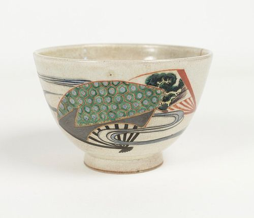 Chawan Stoneware Ninsei type 19th Century