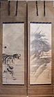 Pair of Kakejiku Kishi Gantai (1782-1865)