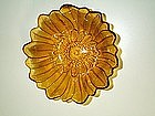 Indiana Carnival Glass Amber Marigold Lily Pons Bowl