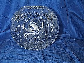 Lead Crystal Rose Bud Bowl Vase Globe