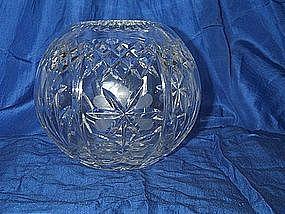 Lead Crystal Rose Bud Bowl Vase Globe