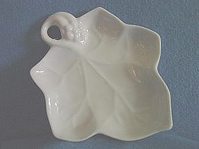 White Grape Leaf Candy Dish, Lillian Vernon 1987