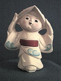 Japanese Bisque Geisha Girl Figurine