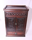 China Old Rosewood Cabinet Carved 1910s