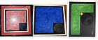 "Haku Maki 'Triptych"" Japan  Stone Series 1974-76"