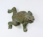 China  Late Qing Scowling Frog  Ornament Metal