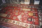 China  Xinjiang  Sinkiang Old carpet Qing