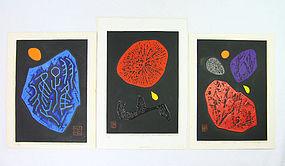 "Haku Maki Japanese Print ""Triptych"" 1971"