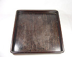 China Qing wooden  scholar Large tray