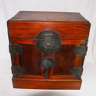 china  old scholar chest brass late Qing
