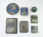 China old Cloisonne set