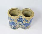 China porcelain brushpot scholar early 20th century
