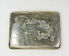 China Republican Silver Cigarette case  Dragon